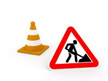 Construction zone Royalty Free Stock Images