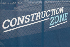 Construction Zone Banner Sign Royalty Free Stock Images