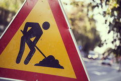 Construction zone Royalty Free Stock Image