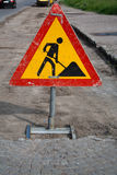 Construction zone sign Royalty Free Stock Photos