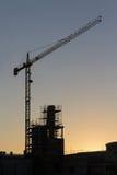 Constructional Crane Dawn Stock Photography