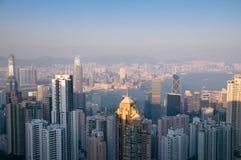 Constructions à Hong Kong Photographie stock