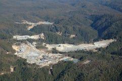 Constructions à la mine d'or Image libre de droits