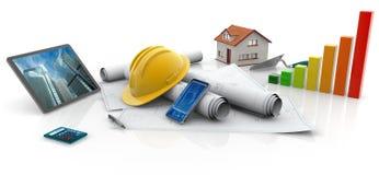 Constructions écologiques illustration stock