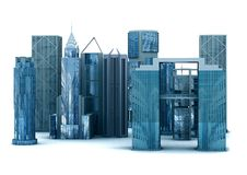 constructions 3d de corporation Photographie stock libre de droits