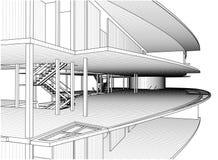 Constructions abstraites de ligne vecteur Photographie stock libre de droits