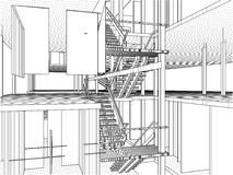 Constructions abstraites de ligne vecteur Image stock