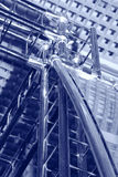 Constructions in blues Royalty Free Stock Image