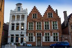 Constructions ? Bruges image stock
