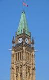 Constructions canadiennes du Parlement à Ottawa Photo libre de droits