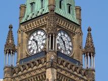 Constructions canadiennes du Parlement à Ottawa Photos libres de droits