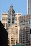 Constructions Chicago du centre Images libres de droits