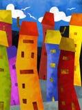 Constructions colorées illustration stock