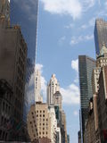 Constructions d'affaires de New York Images libres de droits