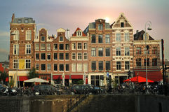Constructions d'Amsterdam Image stock