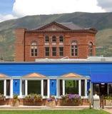 Constructions dans Aspen, le Colorado Image stock