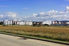 Constructions dans l'extension de Sibiu Hipodrom I Image libre de droits