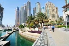 Constructions de corporation à Dubaï Images stock