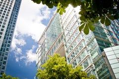 Constructions de corporation dans le grand dos du Canada, Londres Photo stock