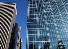 Constructions de corporation de New York City Photographie stock libre de droits