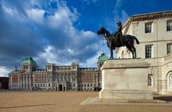 Constructions de défilé de dispositifs protecteurs de cheval, Londres, R-U Photographie stock
