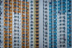 Constructions de Hong Kong photo stock