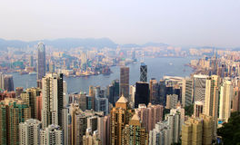Constructions de Hong Kong Images libres de droits
