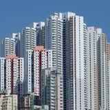 Constructions de Hong Kong Images stock