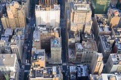 Constructions de Manhattan Photos libres de droits