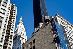 Constructions de New York City Images stock