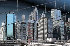 Constructions de New York City Photographie stock