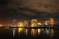 Constructions de nuit Photos libres de droits