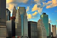 Constructions de NYC Photos libres de droits