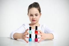 Constructions de petite fille Image stock