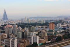 Constructions de Pyong Yang Photographie stock