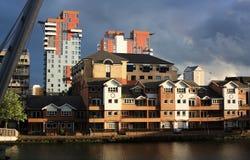 Constructions de quartiers des docks à Londres Photo stock