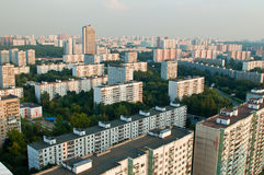Constructions de ville de banlieue de Moscou Images libres de droits