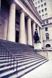 Constructions de Wall Street dans NYC Photographie stock