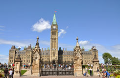 Constructions du Parlement, Ottawa, Canada Photo libre de droits