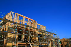 Constructions en construction Photos stock