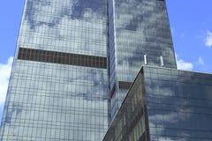 Constructions en verre de local commercial photographie stock