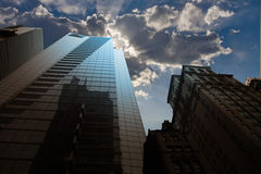 Constructions et ciel de ville image libre de droits