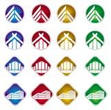 Constructions et graphisme de maison Photographie stock libre de droits