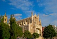 Constructions historiques cathédrale, église de Madrid photos stock