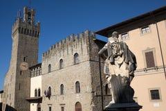 Constructions médiévales à Arezzo (Toscane, Italie) images libres de droits