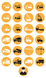 Constructions machinery icons Royalty Free Stock Photography