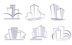 Constructions modernes d'affaires Image stock