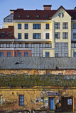 Constructions neuves et vieilles Photographie stock libre de droits