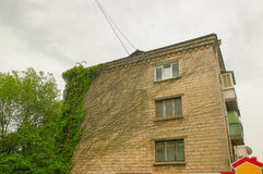 Free Constructions Of Soviet Union Times Covered Ivy Stock Photo - 97147340