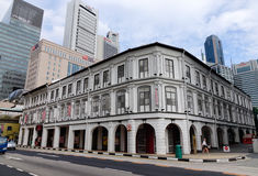 Constructions à Singapour Photographie stock